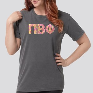 Pi Beta Phi Pink Flo Womens Comfort Color T-shirts