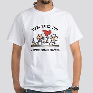 Funny Personalized Wedding White T-Shirt