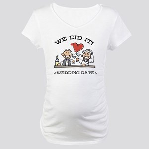 Funny Personalized Wedding Maternity T-Shirt