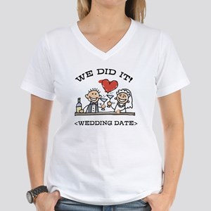 Funny Personalized Wedding Women's V-Neck T-Shirt