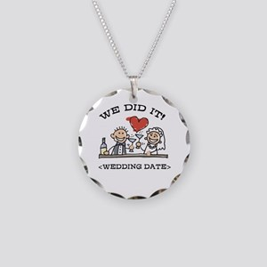 Funny Personalized Wedding Necklace Circle Charm