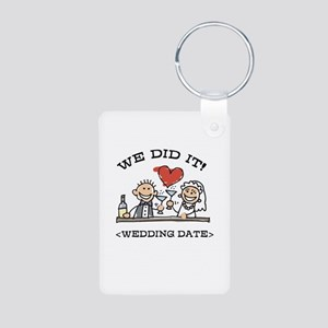 Funny Personalized Wedding Aluminum Photo Keychain