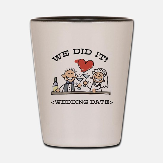 Funny Personalized Wedding Shot Glass