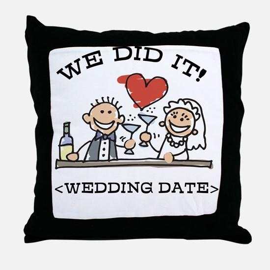 Funny Personalized Wedding Throw Pillow