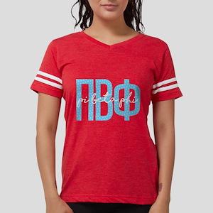 Pi Beta Phi Polka Dots Womens Football T-Shirts
