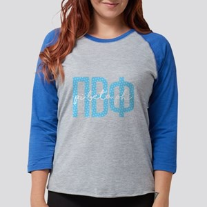 Pi Beta Phi Polka Dots Womens Baseball T-Shirt