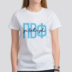 Pi Beta Phi Polka Do Women's Classic White T-Shirt