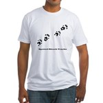 Spotted Skunk Tracks Fitted T-Shirt