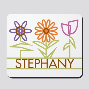 Stephany with cute flowers Mousepad