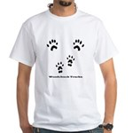 Woodchuck Tracks White T-Shirt
