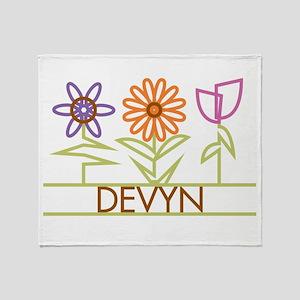 Devyn with cute flowers Throw Blanket