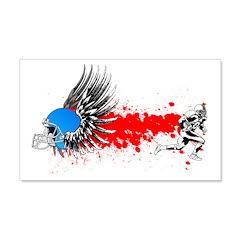 FootBall grunge wings 22x14 Wall Peel