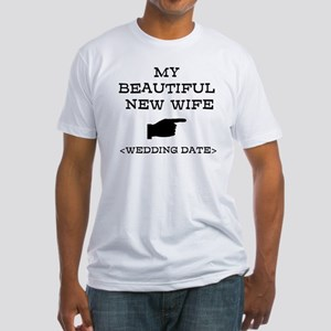 New Wife (Wedding Date) Fitted T-Shirt
