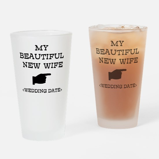 New Wife (Wedding Date) Drinking Glass