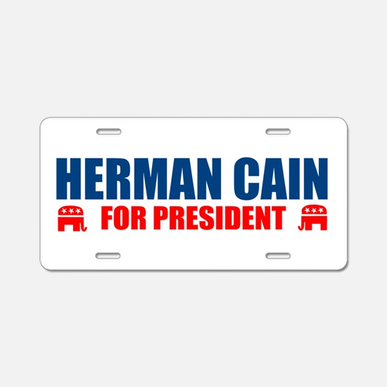 HERMAN CAIN FOR PRESIDENT 201 Aluminum License Pla