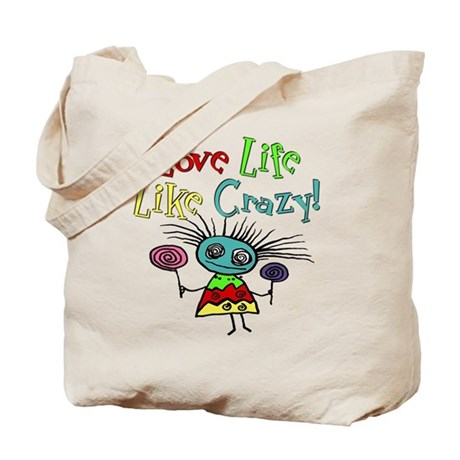 Funny Love Life Zombie Girl Tote Bag