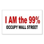 I am the 99 Percent Sticker (Rectangle)