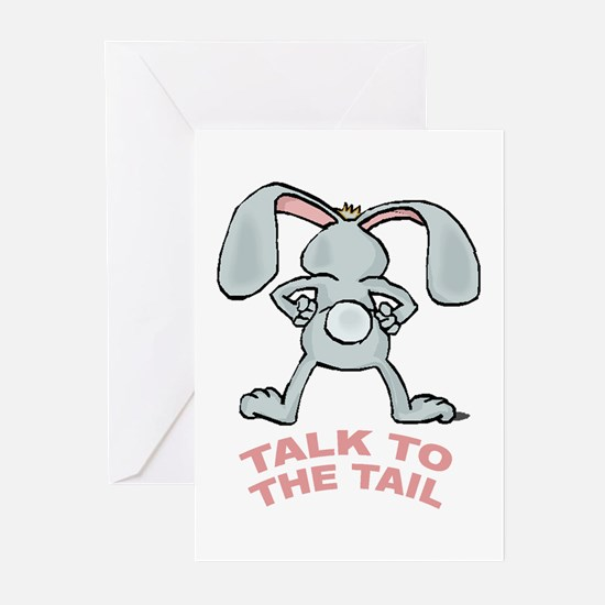 Talk To The Tail Rabbit Greeting Cards (Package of