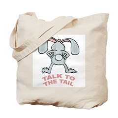 Talk To The Tail Rabbit Tote Bag