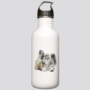 two shih tzus Stainless Water Bottle 1.0L