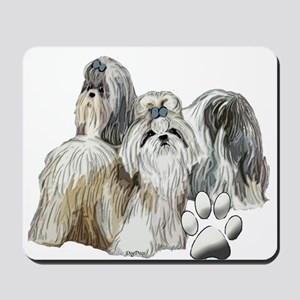 two shih tzus Mousepad