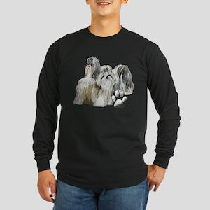 two shih tzus Long Sleeve Dark T-Shirt