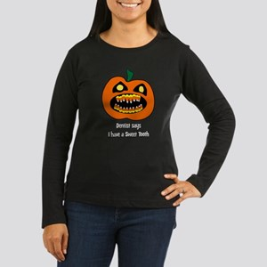 Candy Corn Cavity Women's Long Sleeve Dark T-Shirt