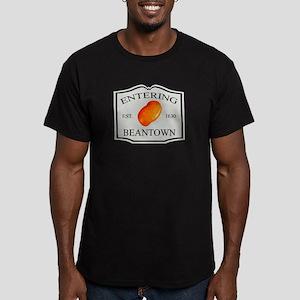 Entering Beantown Men's Fitted T-Shirt (dark)