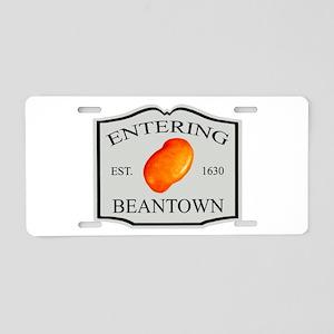 Entering Beantown Aluminum License Plate