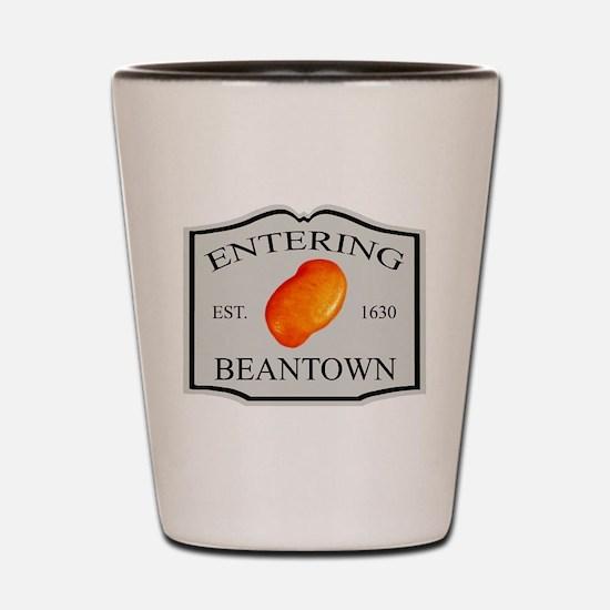 Entering Beantown Shot Glass