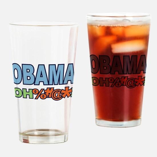 Obama Oh %#@* ! Drinking Glass