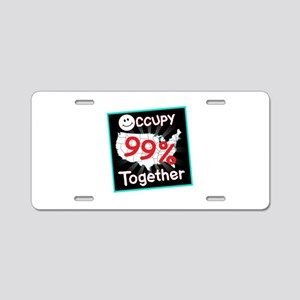 occupy together smile Aluminum License Plate