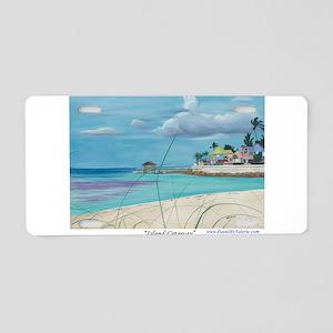 Island Getaway Aluminum License Plate