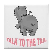 Hippo Talk To The Tail Tile Coaster