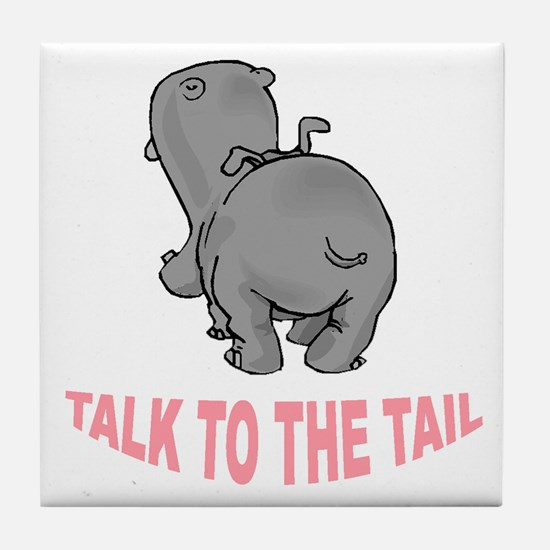 Hippo Talk To The Tail Tile Coaster