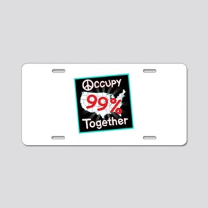 occupy together peace Aluminum License Plate
