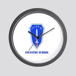 DUI - Infantry Center/School with Text Wall Clock