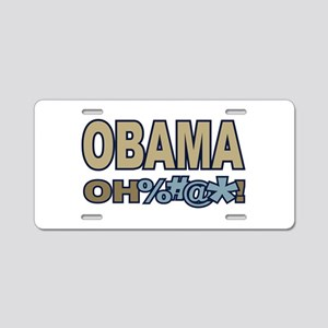 Obama Oh Crap ! Aluminum License Plate