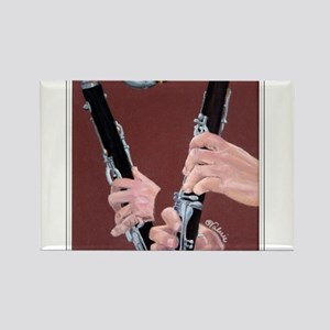 Clarinet Hands Rectangle Magnet