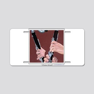 Clarinet Hands Aluminum License Plate