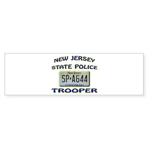 New jersey state police bumper stickers cafepress reheart Choice Image