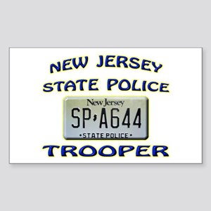 New Jersey State Police Sticker (Rectangle)