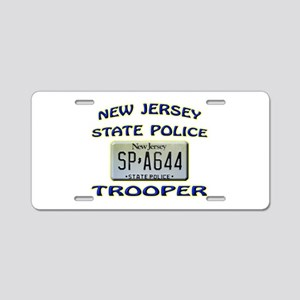 New jersey state police aluminum license plates cafepress new jersey state police aluminum license plate reheart Choice Image