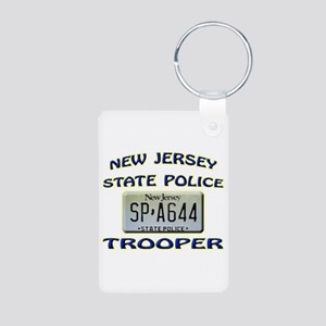 New Jersey State Police Aluminum Photo Keychain