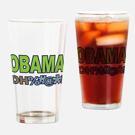 Obama Oh Crap! Drinking Glass