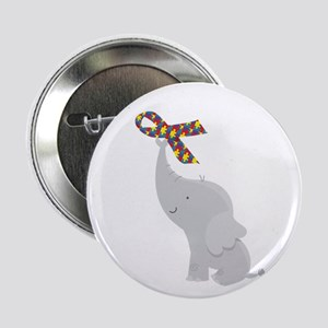 "Autism Elephant Awareness 2.25"" Button"