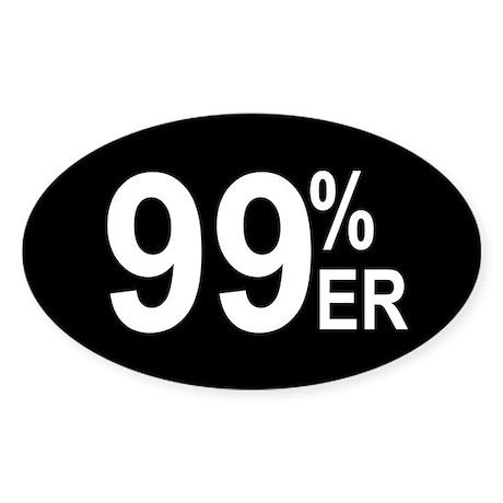99 Percenter Sticker (Oval)