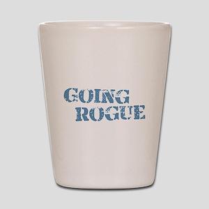 Blue Going Rogue Shot Glass