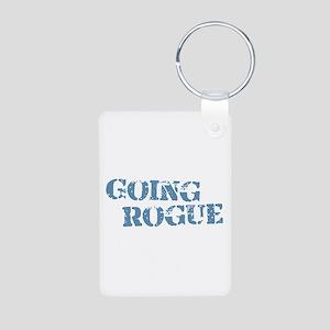 Blue Going Rogue Aluminum Photo Keychain