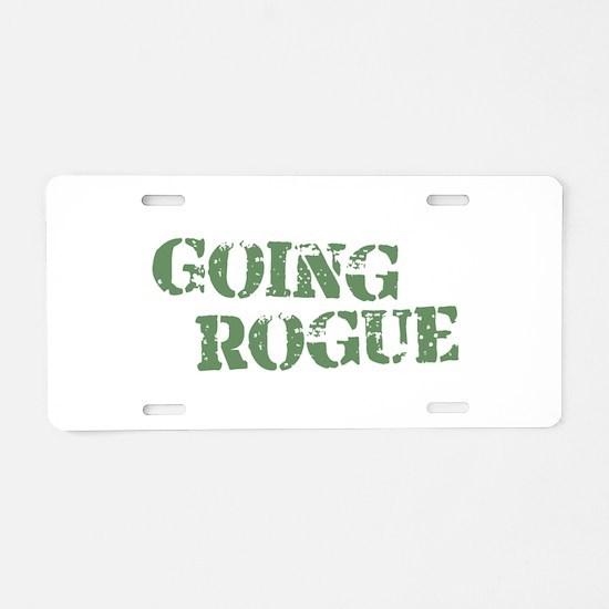 Going Rogue Aluminum License Plate